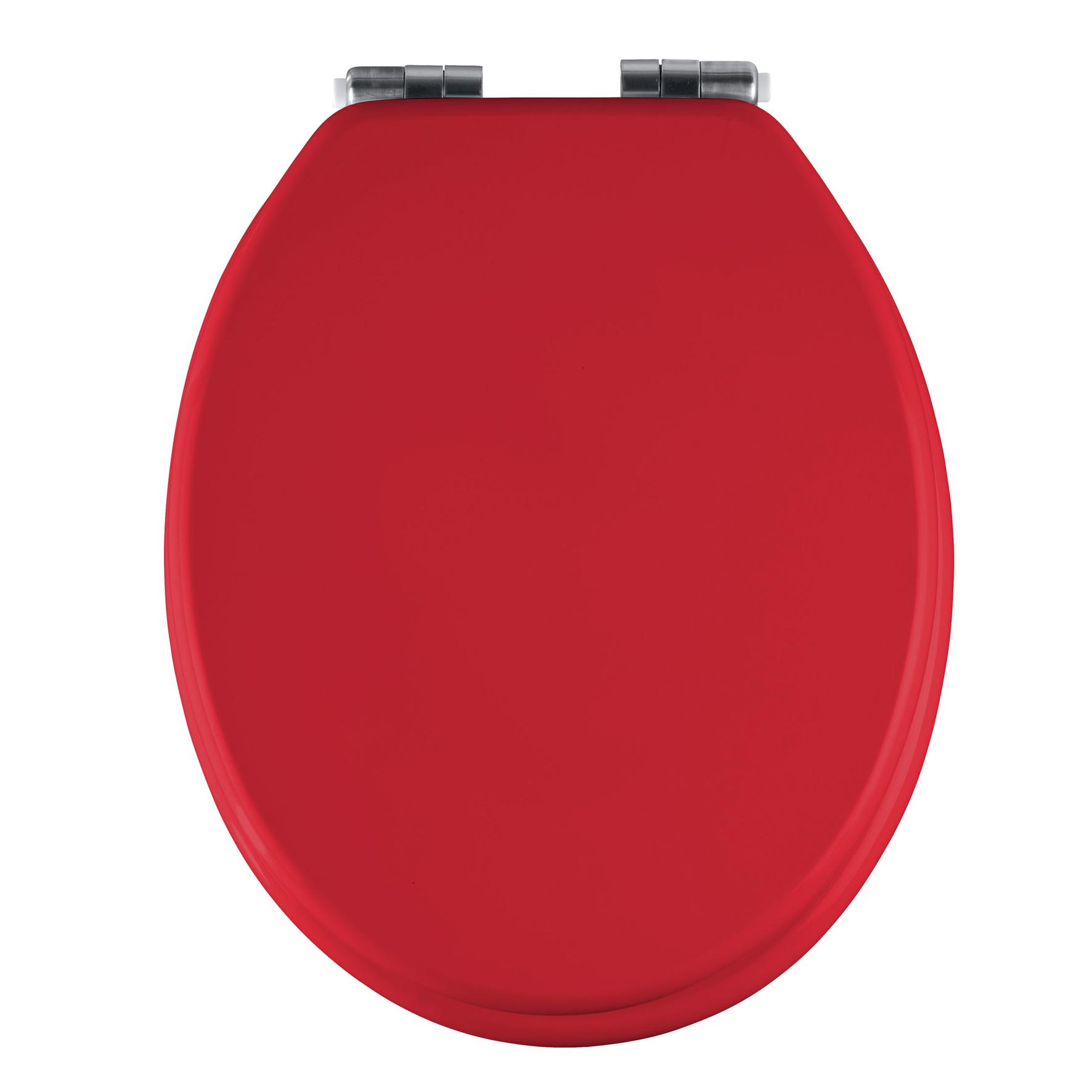 wenko wc sitz texel rot matt toilettendeckel toilette toilettensitz klodeckel ebay. Black Bedroom Furniture Sets. Home Design Ideas