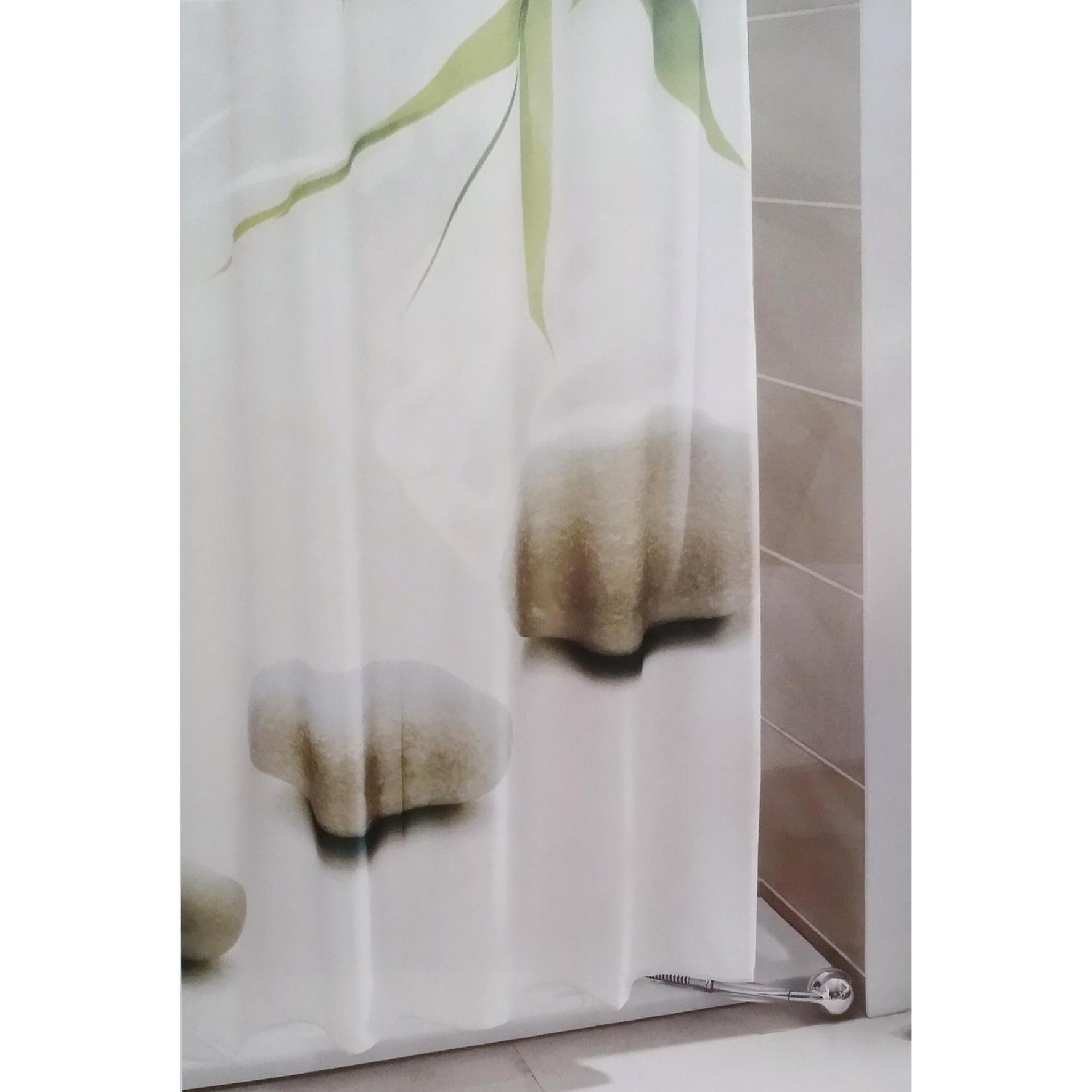 textil foto dusch und badewannenvorhang 200x180cm steine duschvorhang ebay. Black Bedroom Furniture Sets. Home Design Ideas