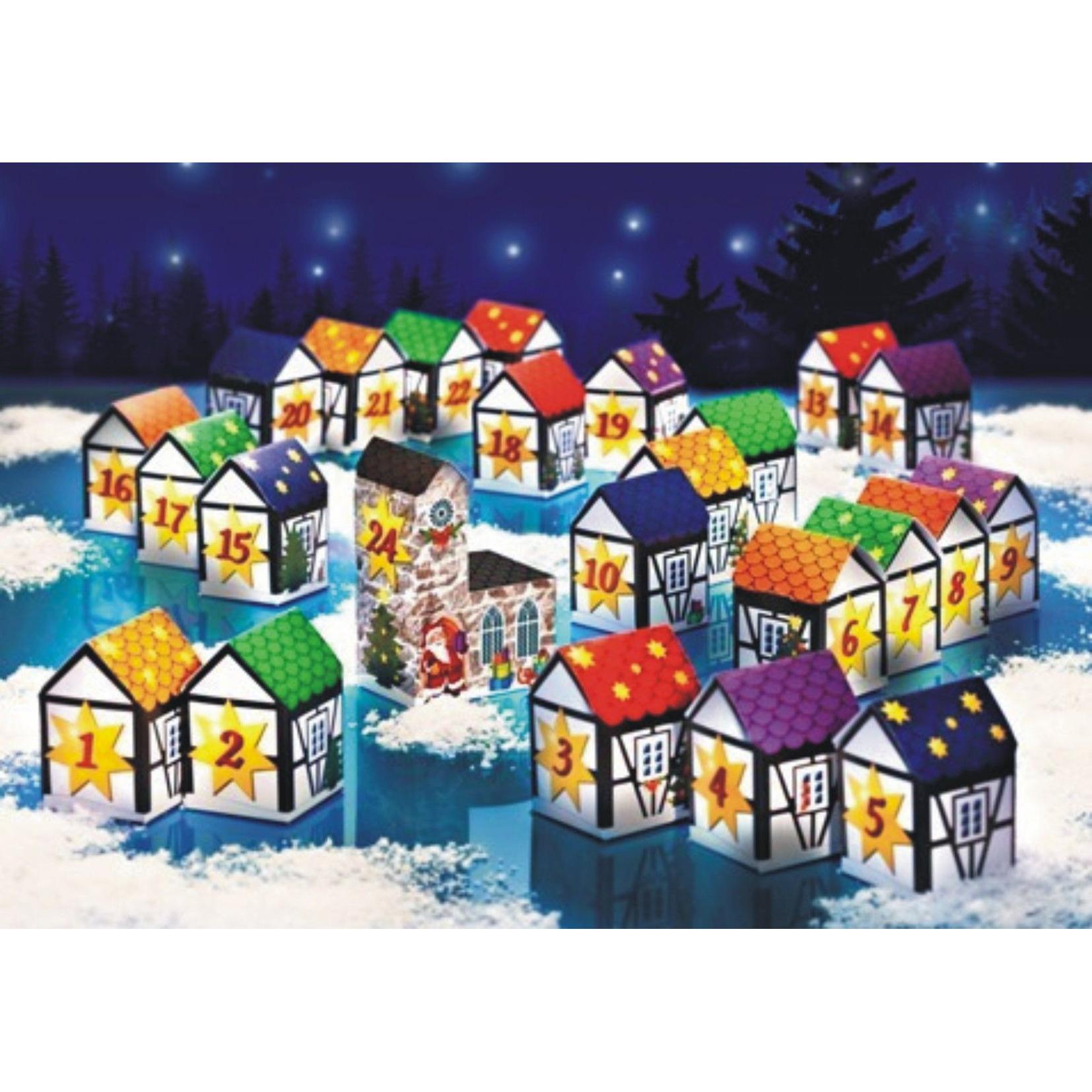 wenko adventskalender dorf 24 teilig zum selbst bef llen papier adventkalender ebay. Black Bedroom Furniture Sets. Home Design Ideas