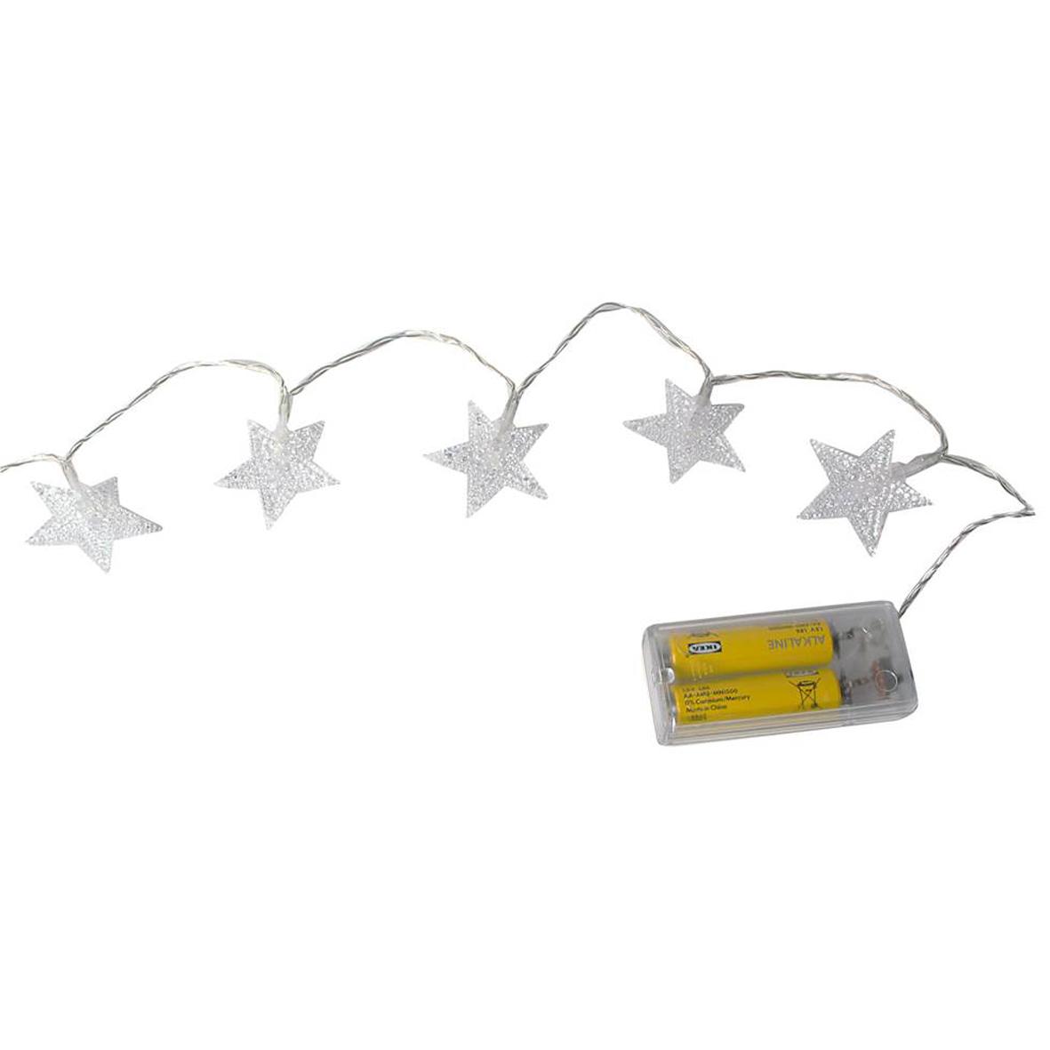 LED Schneeflocke Stern Deko warmweiss erweiterbar