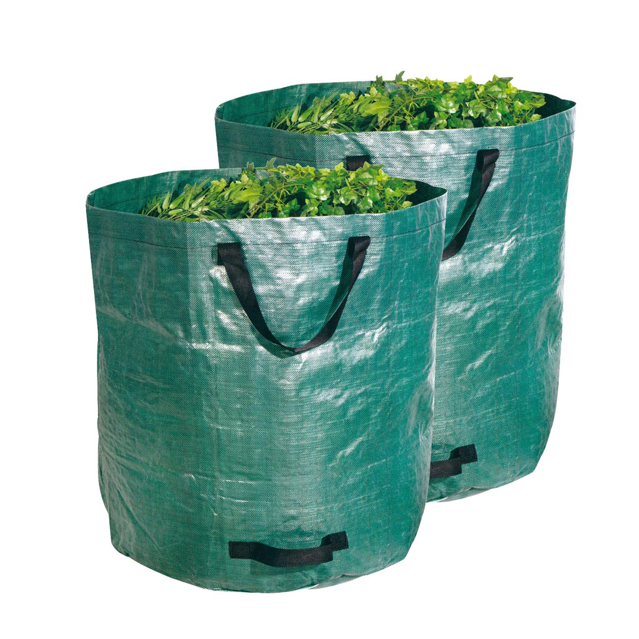 3 St/ück hochwertig Gartenabfallsack mit Griffen 120 l