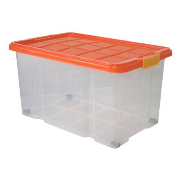 euroboxen unibox 60x40x34 cm 55 l deckel rollen drehstapelbox stapel kiste box ebay. Black Bedroom Furniture Sets. Home Design Ideas