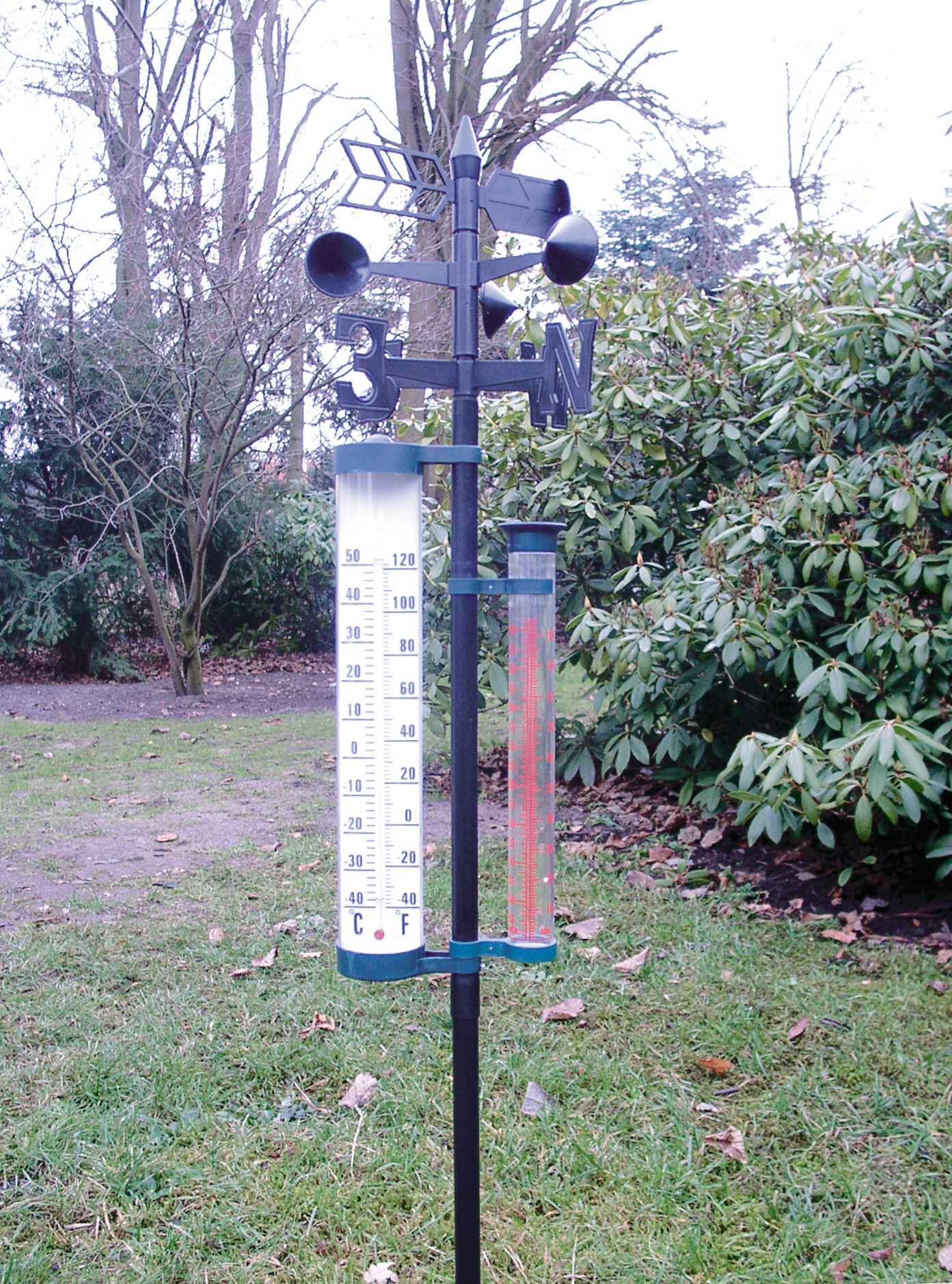 Regenmesser Niederschlagsmesser mit Aufsteckhülse Wetterstation
