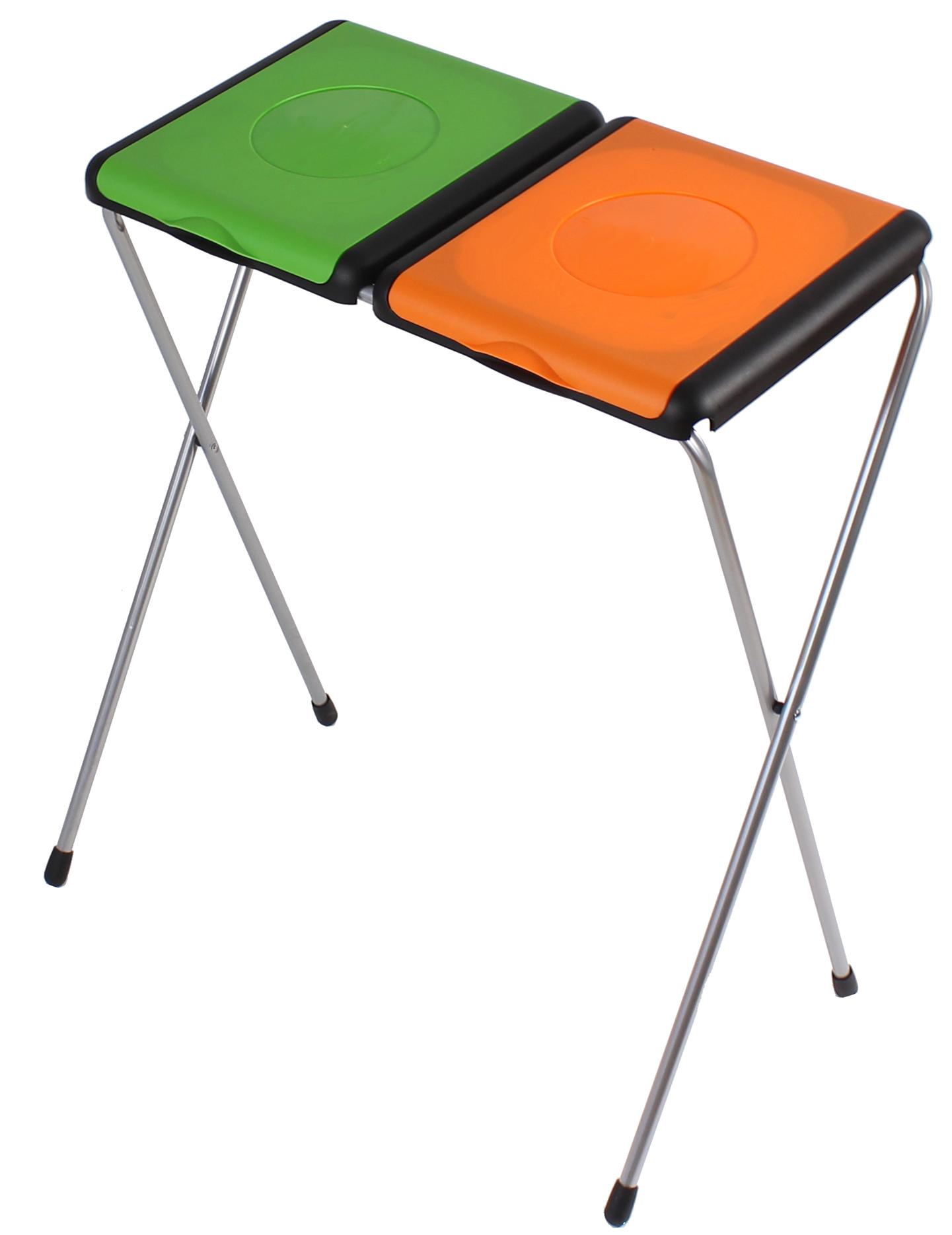 doppel m llsackst nder f r 2x 120 liter gelber sack. Black Bedroom Furniture Sets. Home Design Ideas