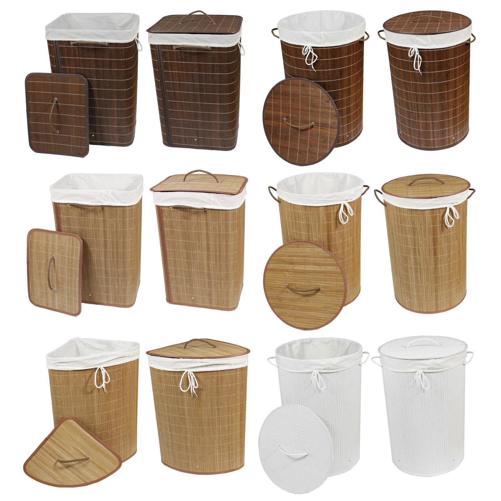 bambuswald© faltbarer Wäschekorb Wäschesortierer Wäschebehälter Truhe Box Wäsche