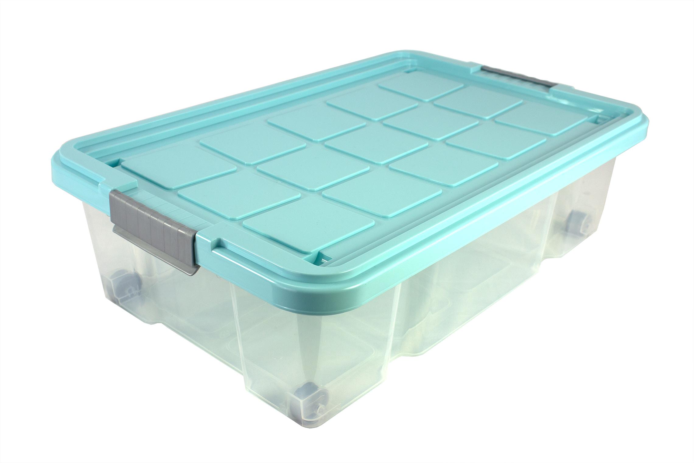 unterbettkommode m rollen unterbettbox rollenbox spielzeugkiste rollbox t rkis ebay