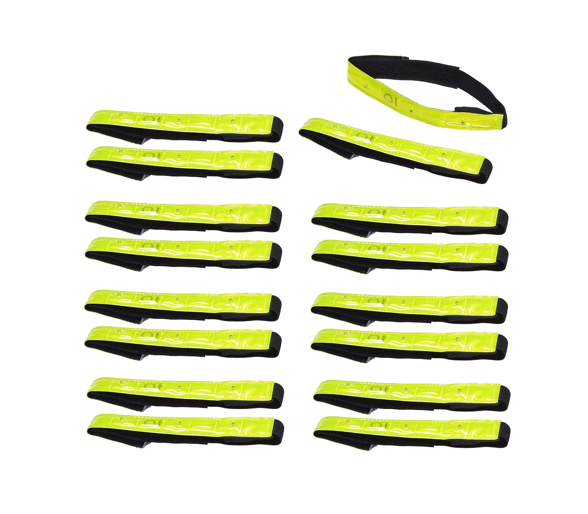 8x Sicherheits Reflektorbänder Reflektorband LED Fahrrad Sicherheits Armreflekt