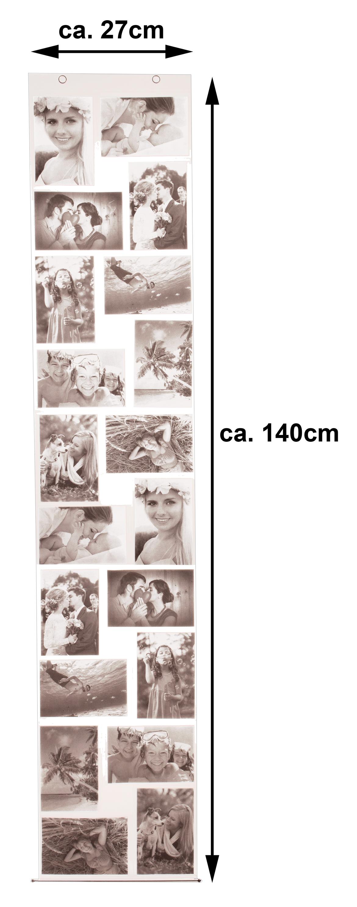Fotowand C6 für 20 Fotos Fotovorhang Bilderrahmen Fotogalerie Photo Vorhang