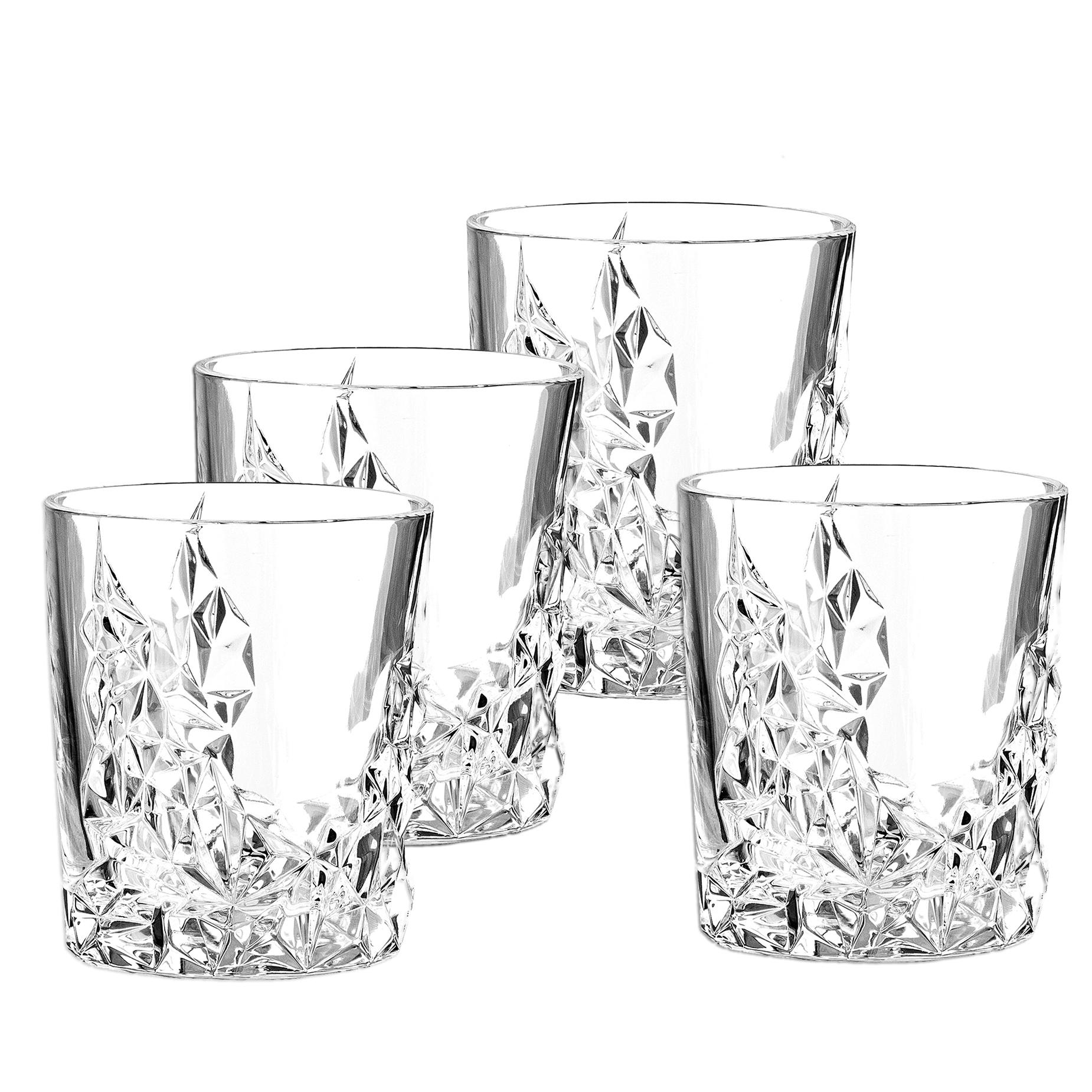 Nachtmann 4 Whiskybecher Sculpture Whiskygläser Tubler Whiskey Glas Gläser Set