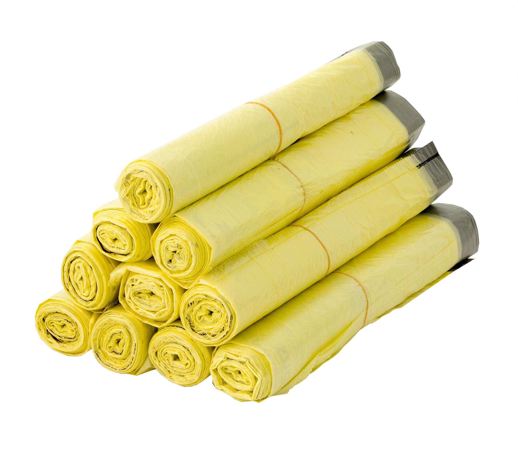 Recycling-Müllsack Grüner Punkt Mülltüten der gelbe Müllsack 60 L Gelber Sack