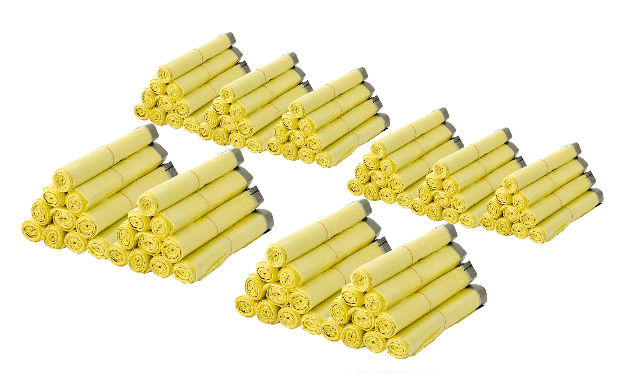 1 Rolle Gelber Sack mit 13 gelben Säcken Müllbeutel Mülltüten Müllsäcke 60 Liter