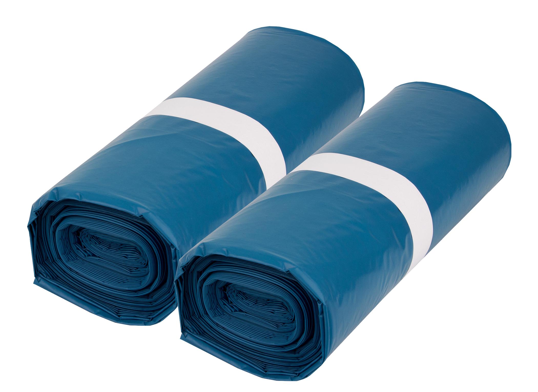 Müllsäcke Blau Abfallbeutel Mülltüten Müllbeutel 240 Liter 25 Stück
