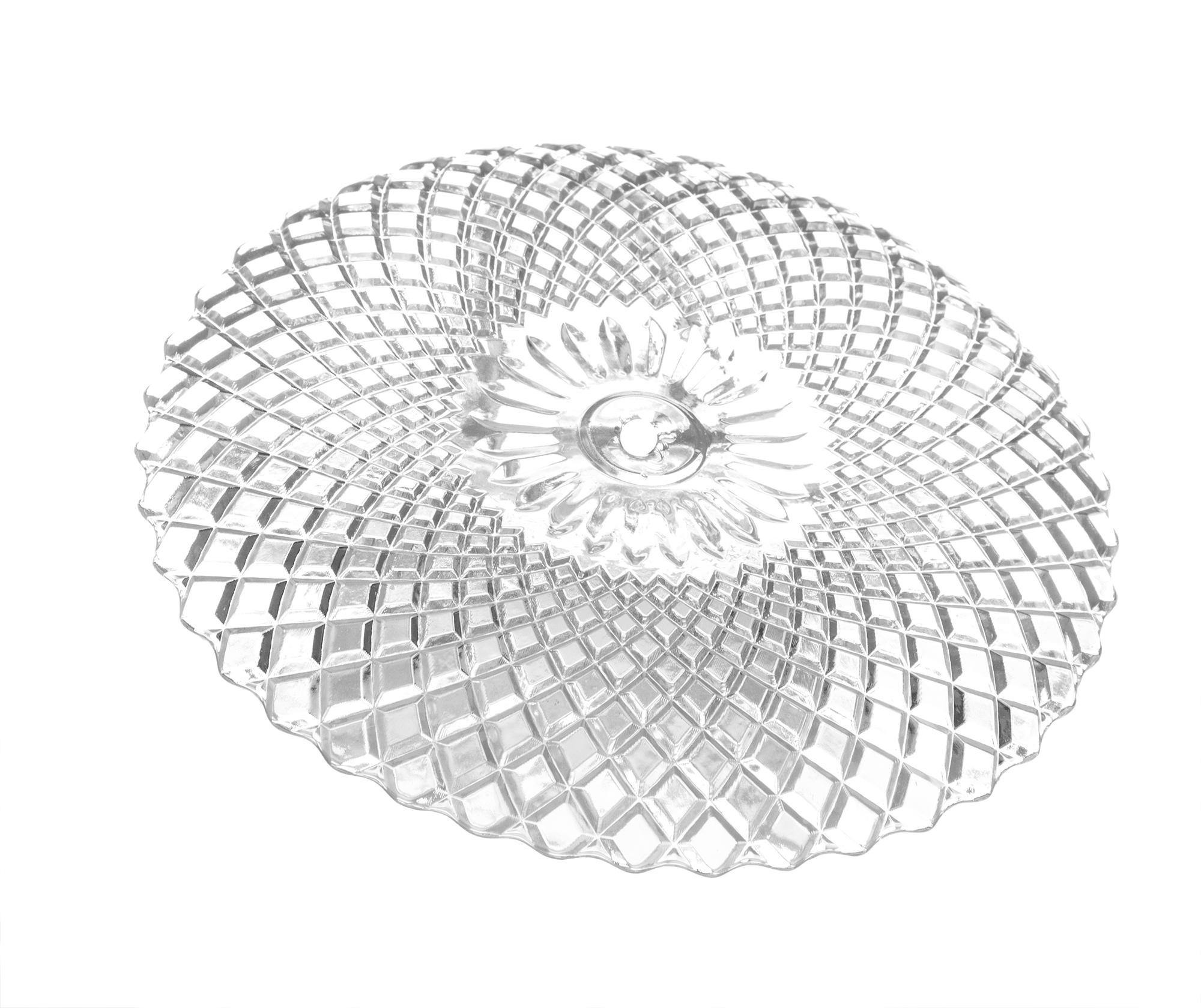Etagere aus Glas mit 3 Etagen Teller Servierplatte Tortenständer Gebäckschale